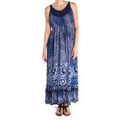 Forbidden Accents Women's Paisley Print Maxi Dress