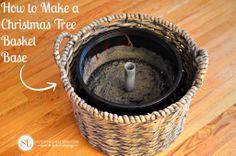 How to Make a Christmas Tree Basket Base