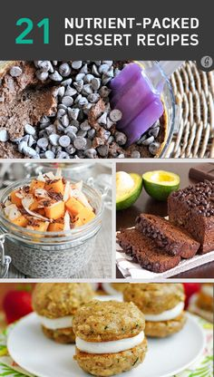 21 Delicous Desserts with Hidden Superfoods (not sure about adding black beans but the rest sound good)