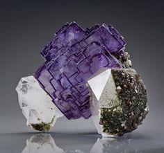 Fluorite crystal, China