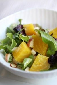 Golden Beet Salad    This meal is Whole30-ready! No modifications here. Just make sure to get fresh beets, not the canned or marinated variety.