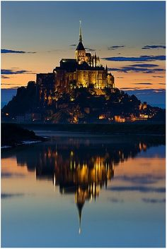 Mont St. Michel, France. Looks like a real life Hogwarts!