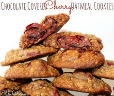 Chocolate Covered Cherry Oatmeal Cookies!
