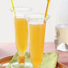 Apricot-Ginger Bellinis | CookingLight.com