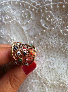 Evil eye gold ring :)