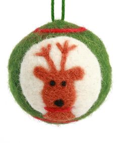 Make a festive statement by adorning the home with charming décor. This sweet ornament is made from quality wool and foam, so it's light enough to hang almost anywhere.