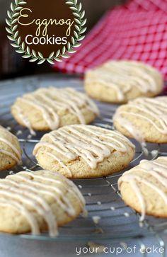 egg nog cake mix cookies with egg nog icing