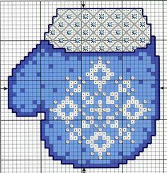 Christmas glove perler bead ornament