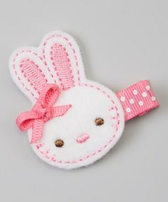 Look at this #zulilyfind! Pink Bunny Felt Clip by Bubbly Bows #zulilyfinds