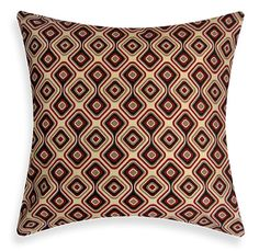 OUTDOOR / INDOOR Red / Brown Pillow Cover  Geo Sundance by ModDiva, $24.95