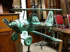 Antique Biplane Weathervane