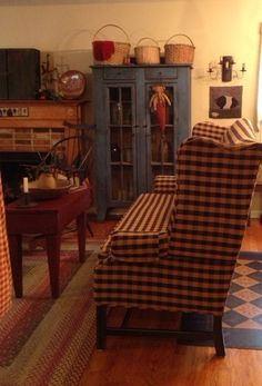 chair, cupboard, blue cabinet, country couches, blue piec
