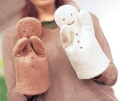 Gingerbread Man Puppets From Felting for Baby ...with pattern and instructions