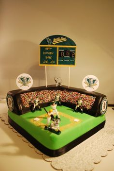 Best Oakland A's cake ever!