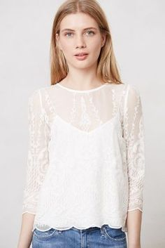 Anthropologie Lace Frost Top