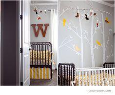 Woodland Nursery for a boy    http://cristycross.com/journal/2012/02/williams-woodland-nursery-theme/
