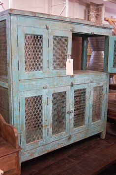 rustic cupboard for storage