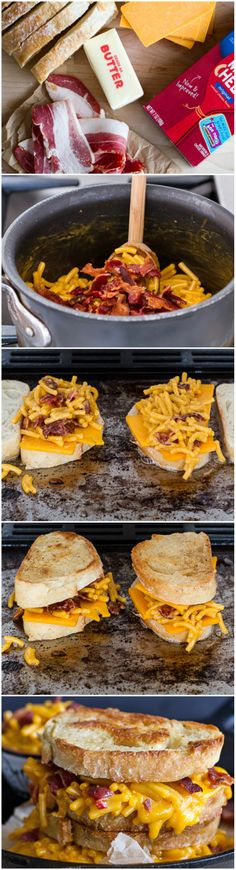 ... Cheese Sandwiches, Mac N Cheese Sandwich, Grilled Mac, Grilled Cheeses