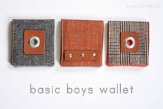 Noodlehead: celebrate the boy tutorial: basic boys wallet