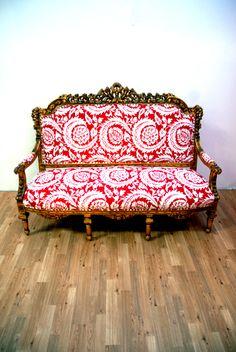 British Antique Modern Couch