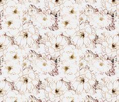 Rose Blush - Pink fabric by kristopherk on Spoonflower - custom fabric