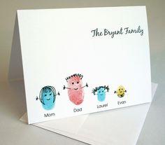 thumbprint family card