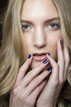 Two-tone purple nails at  Zang Toi