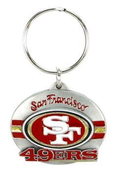 NFL Team Design Key Ring - San Francisco 49ers