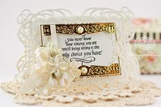 Card Making Ideas by Becca Feeken using Quietfire Design - You Never Know How Strong You Are and Spellbinders