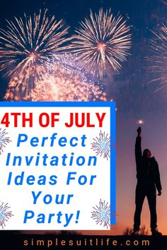 I think doing 4th of July party invitations is a classic way to invite friends and family to celebrate America's birthday! These are simple, fun and super easy ideas. #4thOfJulyInvites #4thOfJulyInvitations