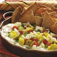 Mediterranean Dip with Pita Chips