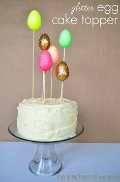 Glitter Egg Cake Topper