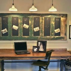 reuse an old door as a chalk or bulletin board....wish list!