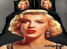 Marilyn Monroe Print 4-Piece Polyester 3D Duvet Cover Sets  Live a better life, start with @beddinginn http://www.beddinginn.com/product/Charming-Marilyn-Monroe-Print-4-Piece-Polyester-3D-Duvet-Cover-Sets-10972882.html