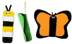 make a caterpillar to butterfly felt 'life cycle' set.