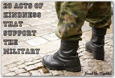 Random acts of kindness that benefit the military...A must see support, militari, forward, marbles, pay, inspir, mk idea, kind, military