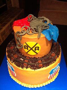 Railroad retirement cake