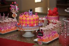 Lalaloopsy girl parties, little cakes, birthday parties, loopsi parti, 5th birthday, birthday party foods, lalaloopsy party, lalaloopsi birthday, birthday ideas