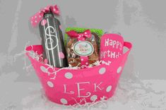Happy Birthday Mini Gift Basket gift baskets, birthday parti, happy birthdays, mini gift, gift bag, happi birthday, birthday mini