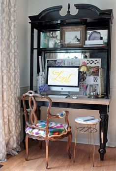 Hutch turned Desk | Vintage Chair | Desk Styling