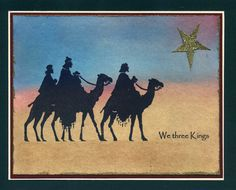 We Three Kings card stampin, stampin idea