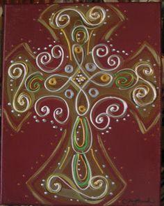 Ooh Wee Designs: Cross Paintings