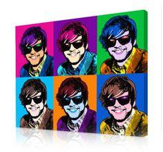 Warhol style 6 panels