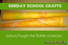Joshua Fought the Battle of Jericho Paper Horn Craft
