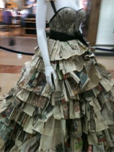 Old Newspaper Dress - we could definitely make some of these from all the extra newspapers we have hanging around!  www.inthenewsonline.com