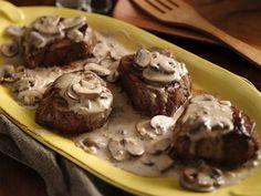 Beef Tenderloins with Mushroom-Garlic Sauce - Enjoy these hearty beef tenderloins steaks with Progresso™ Recipe Starters™ mushroom cooking sauce – perfect for a dinner.