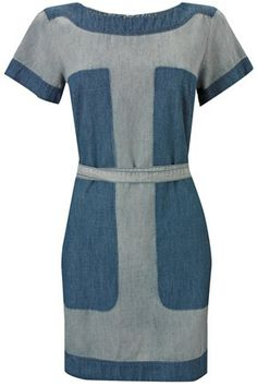 Shadow Denim Dress,   French Connection