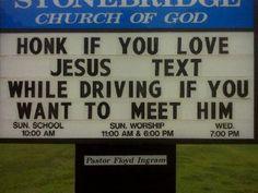 Funny Church Signs - Beliefnet.com