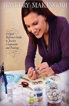 Jewelry making help sheet with necklace and bracelet lengths guides on the last page.