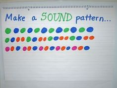 make a sound pattern e.g. clap clap stomp clap clap stomp...tie on with art class when they create patterns